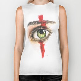 Eye drawing Biker Tank