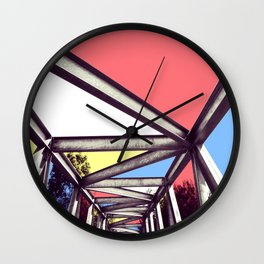 Bridge Mondrian Wall Clock