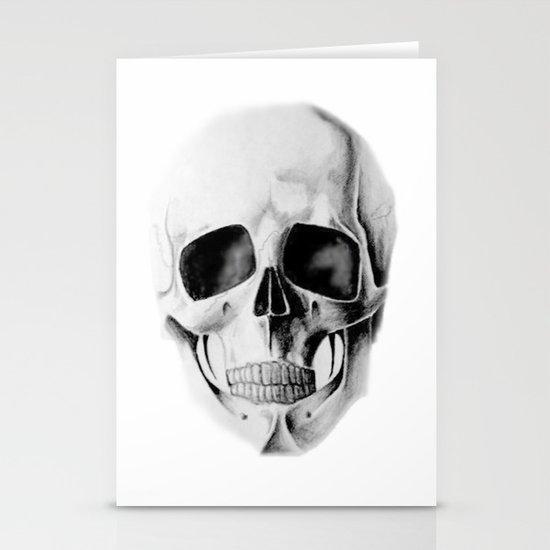 le crâne Stationery Cards