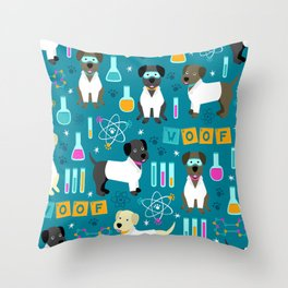 Lab Assistants Throw Pillow