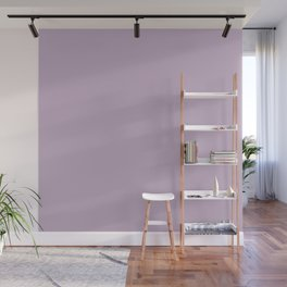Simple Solid Color Wisteria Purple All Over Print Wall Mural