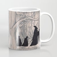 lotr Mugs featuring On the way (The Fellowship of the Ring, LOTR) by Blanca MonQnill Sole