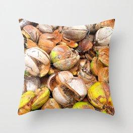 Coconut Husk Photography. Coir. Coconut Fibre. Coir Fibres Throw Pillow
