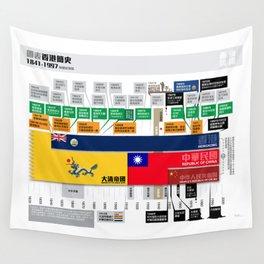 Timeline of Hongkong History Wall Tapestry