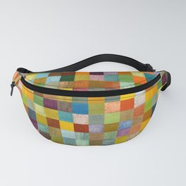 Squares in Rustic Form Fanny Pack