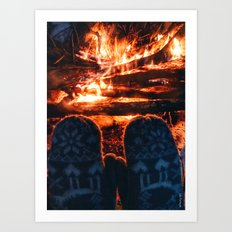 stay warm this winter Art Print