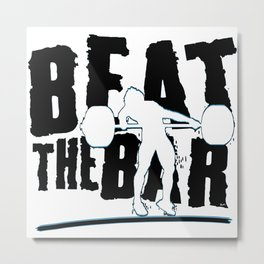 Beat The Bar Metal Print