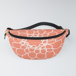 Coral Chrysanth Fanny Pack