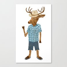 Country deer Canvas Print