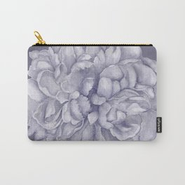 Large Lavender Peony Watercolor Carry-All Pouch