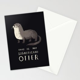 this is my significant otter Stationery Cards