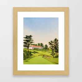 The Olympic Golf Course 18th Hole Framed Art Print
