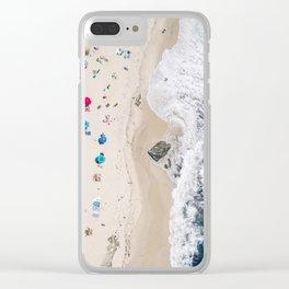 Beachin' it aerial photograph Clear iPhone Case