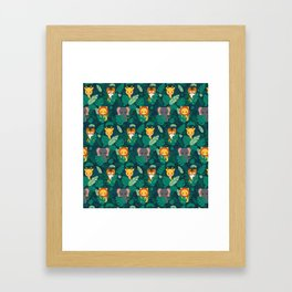 Cute jungle pattern Framed Art Print