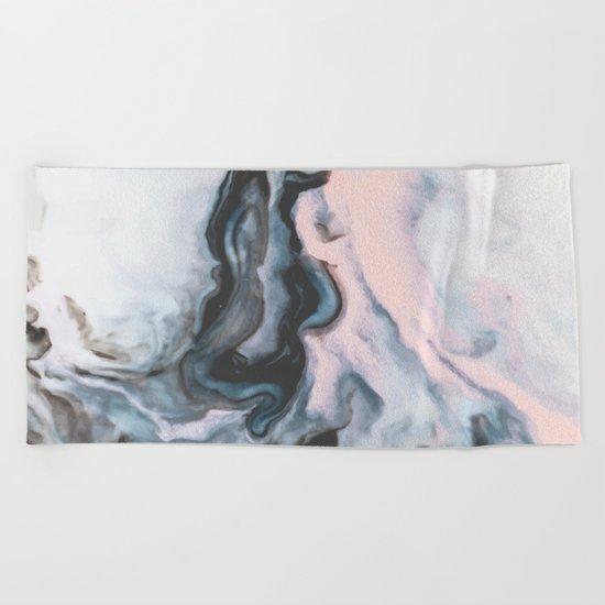 Modern marble 01 Beach Towel