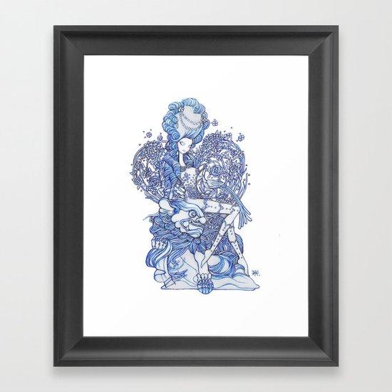 Starry Pin up 'February' Framed Art Print