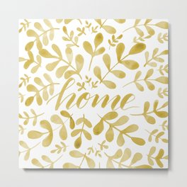 Watercolor home foliage – yellow Metal Print