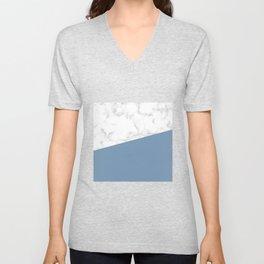 marble and ocean blue Unisex V-Neck