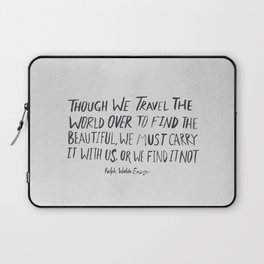 Ralph Waldo Emerson: Beautiful Laptop Sleeve