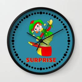 SURPRISE Jack in the Box Wall Clock