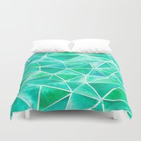 emerald Duvet Covers featuring Emerald by Jamworth