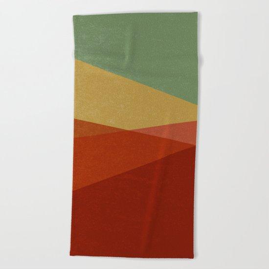Stripe IX Modern Century Beach Towel