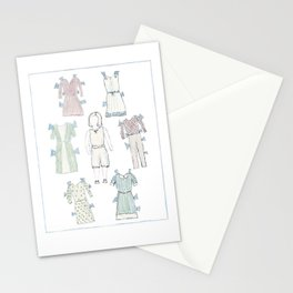 paper doll book page 1 Stationery Cards