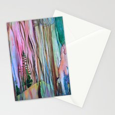 Taiga - Abstract Trees Surreal Pop Painting Stationery Cards