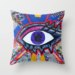 Eye collage Throw Pillow