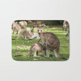 Mother Eastern Grey Kangaroo and Joey Bath Mat