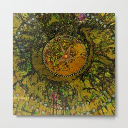 Abstract-Soul Of The Sun by  Sherri Of Palm Springs Metal Print