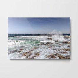 Waves on the backshore Metal Print