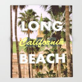 Long Beach, California V.R. Throw Blanket