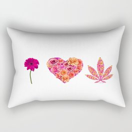 i Heart Pot Leaf Rectangular Pillow
