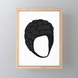 Rugby Helmet Framed Mini Art Print