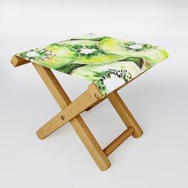 Watercolor kiwi pattern Folding Stool