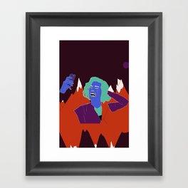 Crying Selfie #1 Framed Art Print