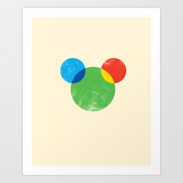 a theory of color of a mouse Art Print
