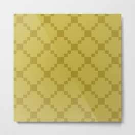 geo squares-flax Metal Print
