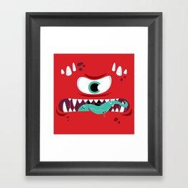 Baddest Red Monster! Framed Art Print