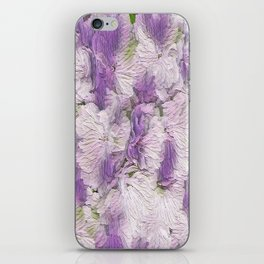 Purple - Lavender Fluffy Floral Abstract iPhone Skin