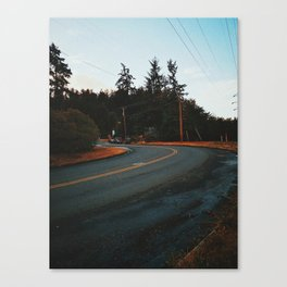 Oregon Road Canvas Print