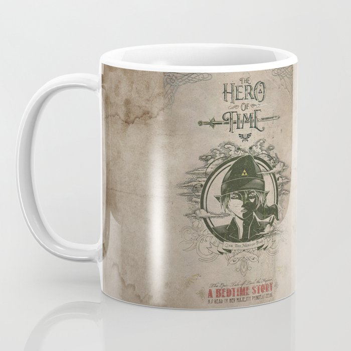 Penguin Book Cover Coffee Mugs : Legend of zelda link the hero time vintage book cover