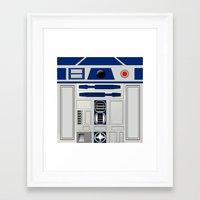 r2d2 Framed Art Prints featuring R2D2 by Smart Friend