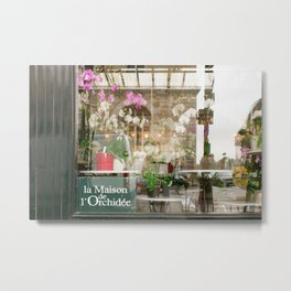 Paris Flower Shop Window Metal Print