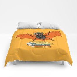 Bat granny book lover Comforters