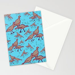 Wild Turkeys Blue Stationery Cards