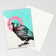 Techno Crow Stationery Cards