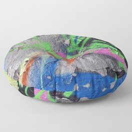 Color Entropy III Floor Pillow