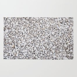 Small white stones pattern Rug